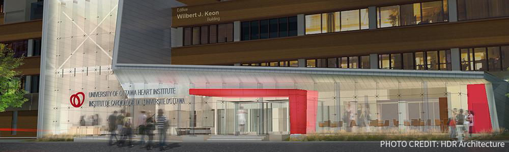 Rendering of the new Ottawa Heart Institute building