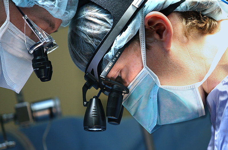 Cardiac surgeons in the operating room