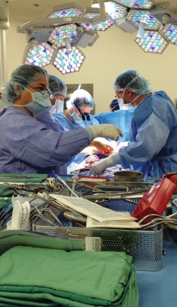 Surgeons at the Ottawa Heart Institute performing a heart transplant