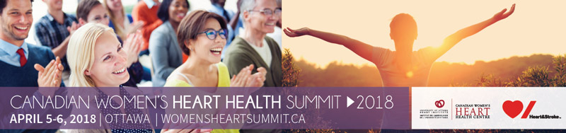 Banner for the 2018 Canadian Women's Heart Health Summit