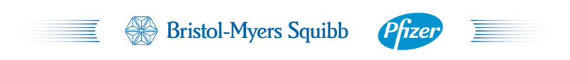 Bristol-Myers Squibb and Pfeizer logo