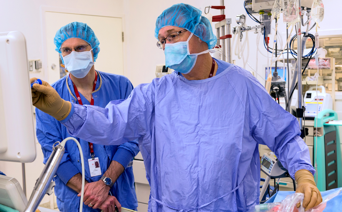 Photo of Cardiac Anesthesiologist and Resident