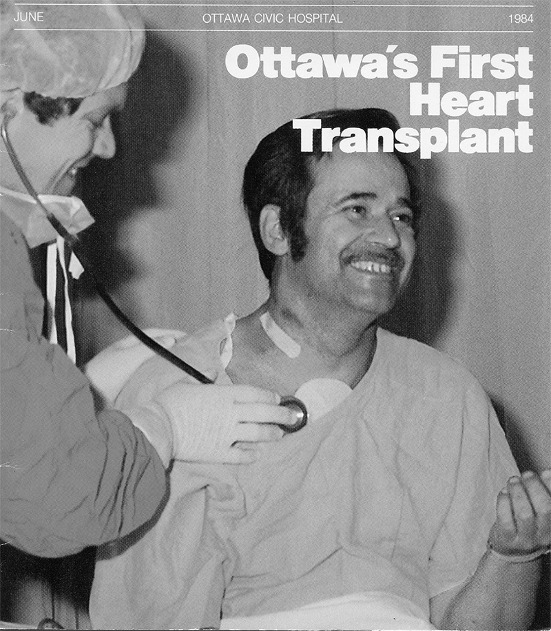 Photo of Ottawa's first heart transplant recipient
