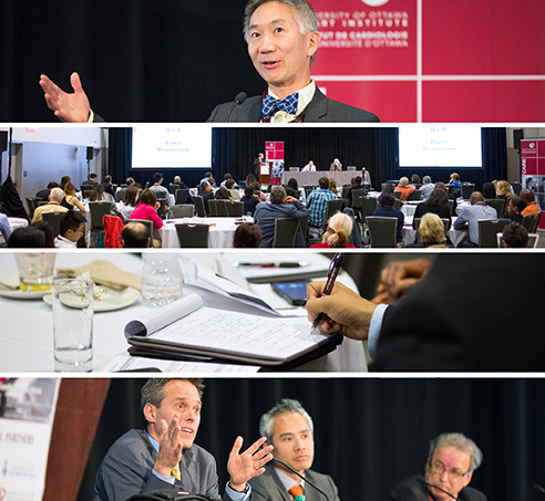 Collage of pictures from the conference