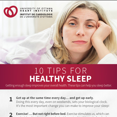 10 tips for healthy sleep. Poster thumbnail image