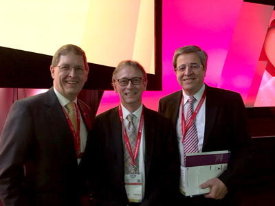 Dr. Beanlands (L), Dr. Birnie (C) and Dr. Mesana at the 2017 AHA Scientific Sessions