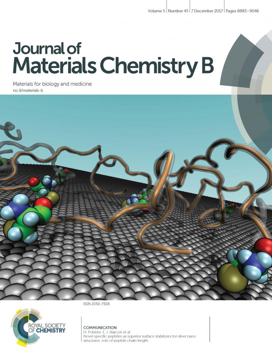 Journal of Materials Chemistry B. December 2017 Cover page