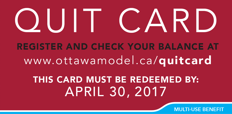 Quit card poster