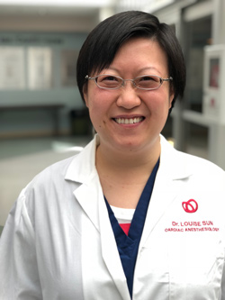 Dr. Louise Sun, staff anesthesiologist at the University of Ottawa Heart Institute.