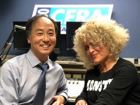 Dr. Paul Oh and CFRA radio host Dahlia Kurtz.