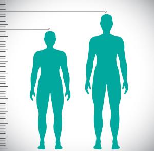 A short man and a tall man