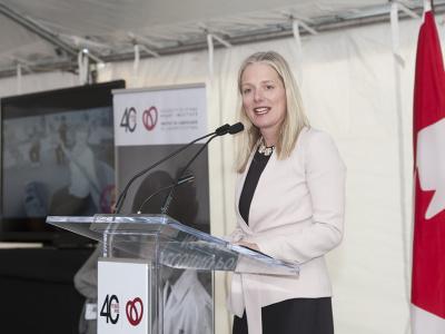 Déjeuner des fondateurs : Catherine McKenna, ministre de l'Environnement et du Changement climatique