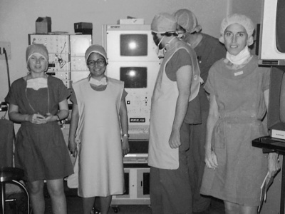 Opening of a catheterization lab, June 1976