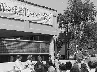 Opening of Phase 2 of the Heart Institute, 1983