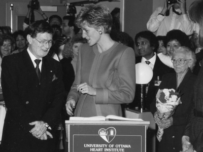 Visite de la princesse Diana, 1991