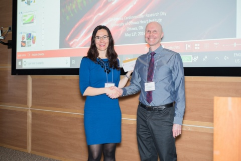 Dr. Milica Radisic (left), Research Day Keynote Speaker and Dr. Erik Suuronen (right), Chair, Research Day Committee
