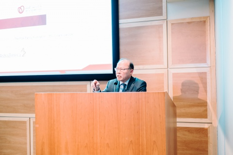 Dr. Peter Liu, Chief Scientific Officer and VP Research, UOHI, during the opening remarks of the 32nd Annual Cardiovascular Research Day.