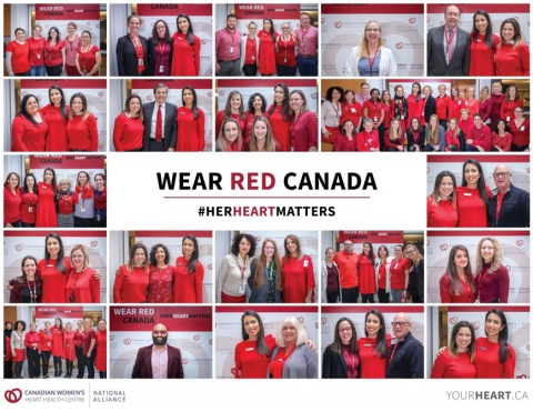 A collage of images from the inaugural Wear Red Canada campaign event, which took place February 13, 2019 at the UOHI.