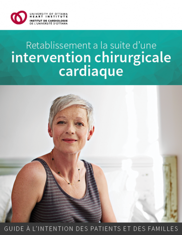 Page couverture du guide Rétablissement à la suite d'une intervention chirurgicale cardiaque
