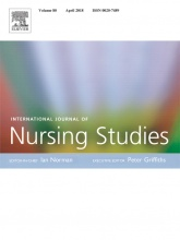 International Journal of Nursing Studies Cover