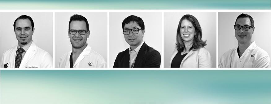 Collage illustrant cinq nouveaux membres de l'équipe de l'ICUO