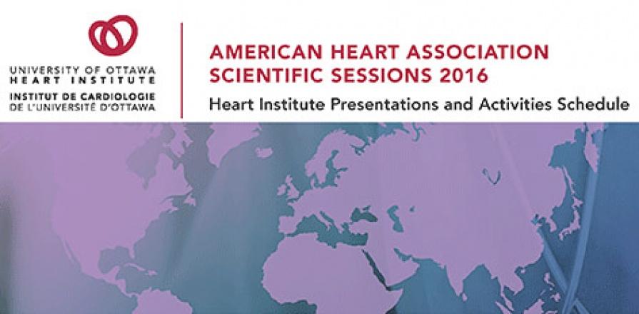 Séances scientifiques 2016 de l'American Heart Association (AHA)