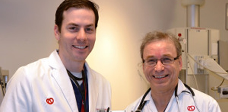Drs. Ben Hibbert (left) and Michel Le May