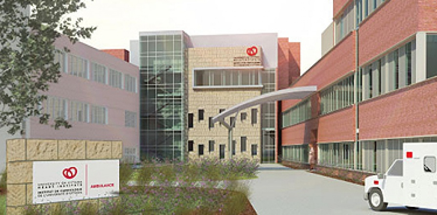 An artist's conception of the proposed University of Ottawa Heart Institute building extension