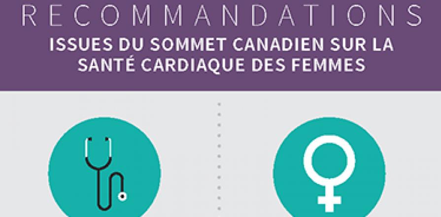 Diagramme infographique des recommandations issues du Sommet canadien sur la santé cardiaque des femmes