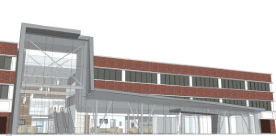 An artist's rendition of the Main Entrance of the UOHI