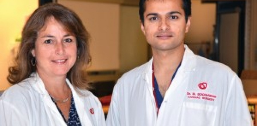Nurse coordinator Kathryn McLean and cardiac surgeon Munir Boodhwani, MD, of the Aortic Clinic at the University of Ottawa Heart Institute.