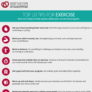 Top 10 Tip for Exercise