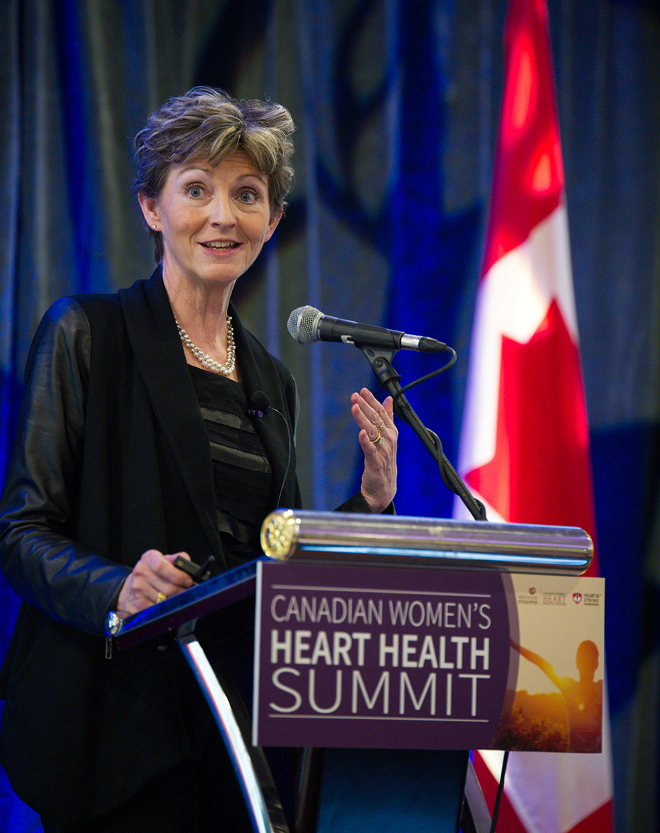 Keynote speaker Sharonne Hayes, MD of the Mayo Clinic addressed the Canadian Women's Heart Health Summit in April.