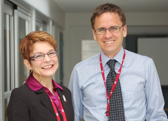 Joanne Morin, APN, and Luc Beauchesne, MD