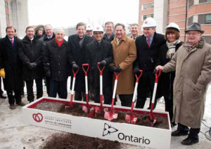 Our Expansion: An array of political dignitaries and institutional leaders braved the cold to be part of the Heart Institute's official groundbreaking ceremony on January 15, 2015.